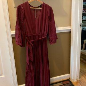 Burgundy dress, Size M